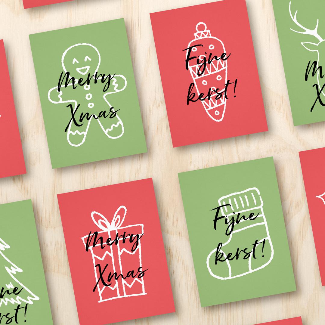 Kerstkaarten Pakket | Kleur